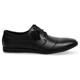 Pantofi din piele dantelată LJ41 Negru