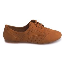 Pantofi de jazz Openwork Low 219 Camel maro