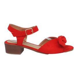 Roșu Sandale cu tocuri roșii Noemia roșie