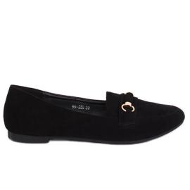 Negru Loafers pentru femei 99-259 Negru