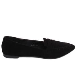 Negru Loafers pentru femei 99-262 Negru