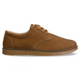 Cizme de pantofi clasici 1307 camel maro