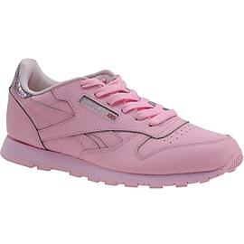 Pantofi Reebok Classic din piele metalică Jr BD5898 roz
