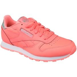 Pantofi Reebok Classic din piele Jr BS8981 roz