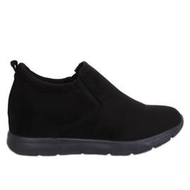 Pantofi de pe o pană ascunsă negru ZY-7K67 Negru