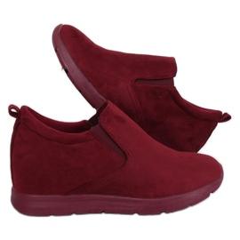 Roșu Pantofi cu toc tăiat ascuns ZY-7K67 Red