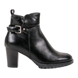 Vinceza negru Cizme elegante de toamnă