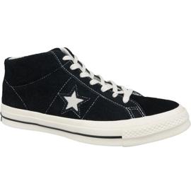 Pantofi Converse One Star Ox Mid Vintage Suede M 157701C negru