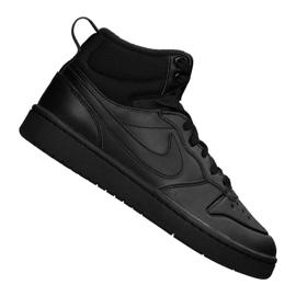 Cizme Nike Court Borough Mid 2 (GS) Jr BQ5440-001 negru