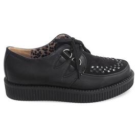 Cizme de cizme de pe platforma 061ss negru