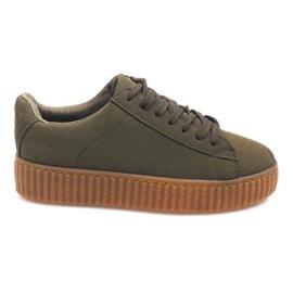 Cizme de cizme de pe platforma AM-1101 verde