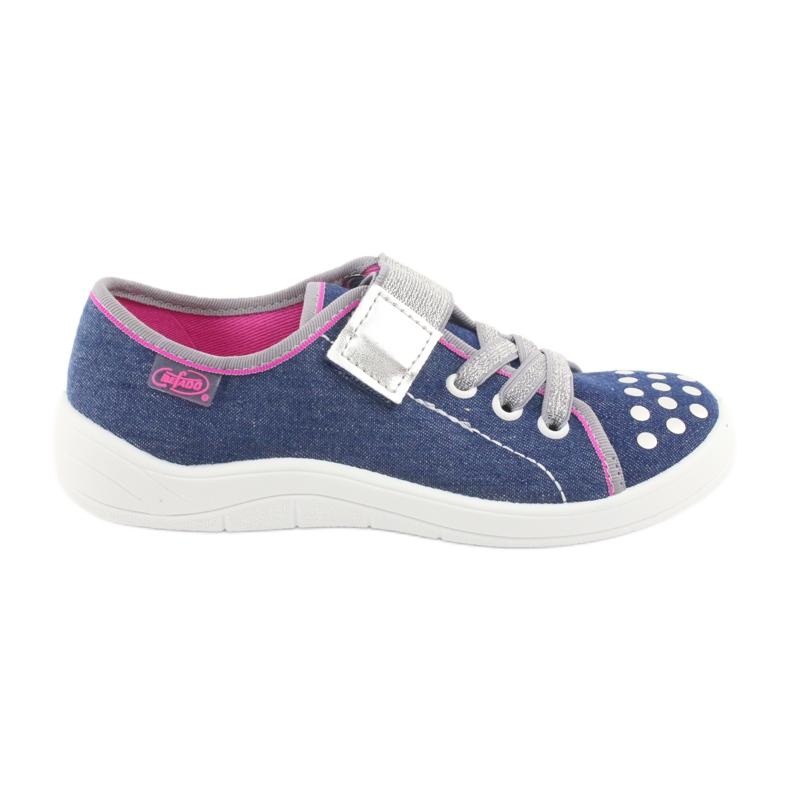 Pantofi pentru copii Befado 251Y109 blugi albastru marin roz gri