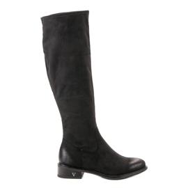 Negru Suede Boots VINCEZA