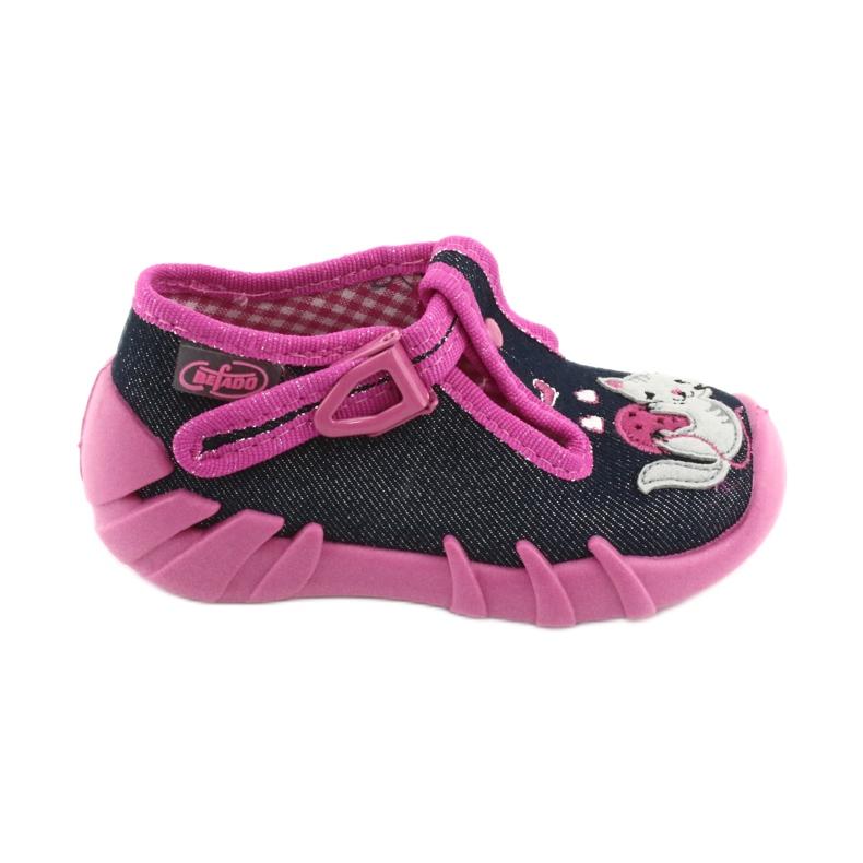 Pantofi pentru copii Befado 110P348 bleumarin albastru marin multicolor roz