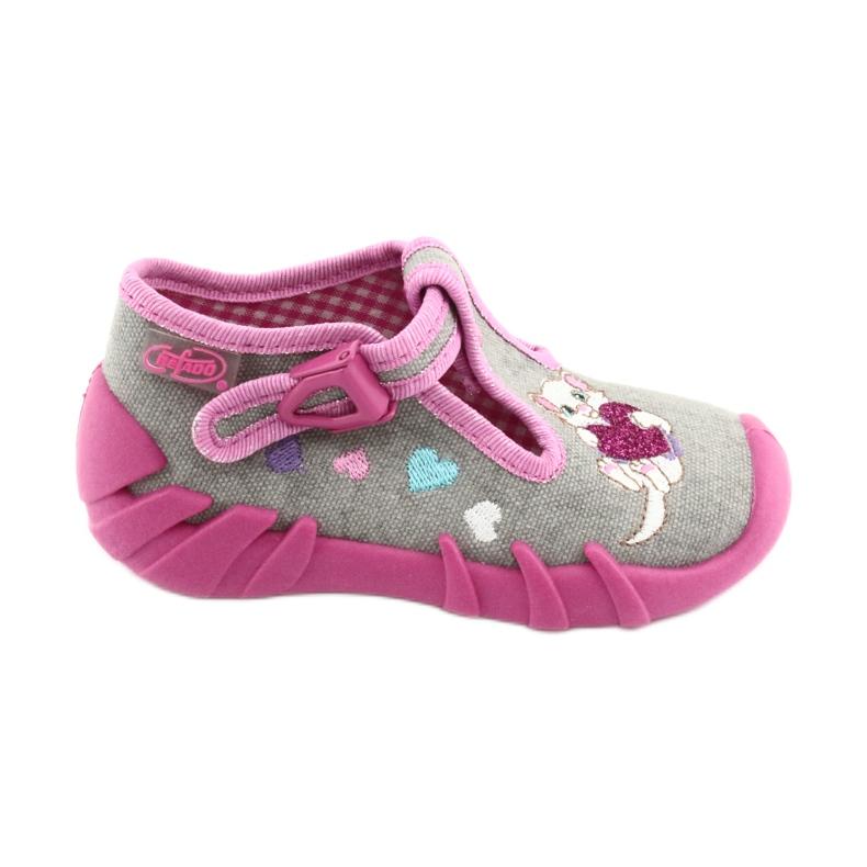 Încălțăminte pentru copii Befado 110P338 roz gri