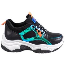 SHELOVET Pantofi sport cu efect Holo negru