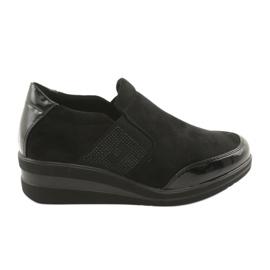 Pantofi negri pe pene Sergio Leone 225 negru