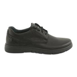 Pantofi legați pentru bărbați Riko 902 negru