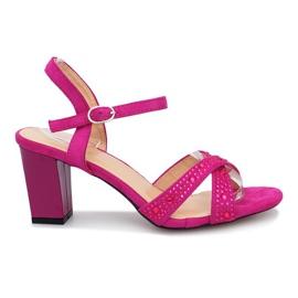 Sandale cu toc înalt Almore violet