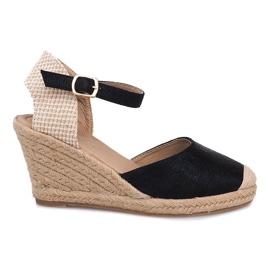 Sandale de mireasă Espadrilles Cizme A198-3 Negru