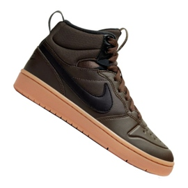 Pantofi Nike Court Borough Mid 2 (GS) Jr BQ5440-200 negru