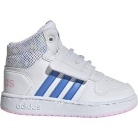 Alb Pantofi Adidas Hoops Mid 2.0 I Jr EE8550