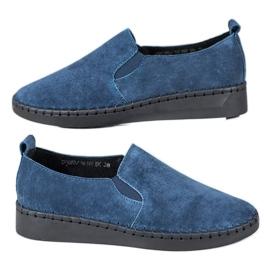 Filippo Pantofi din piele Slip On albastru
