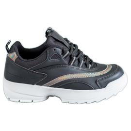 SHELOVET Pantofi negri la modă negru
