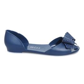 Bleumarin Sandale de culoare albastru închis cu un arc Delmar