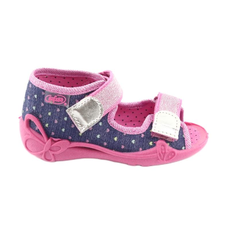 Încălțăminte pentru copii Befado 242P093 albastru marin roz