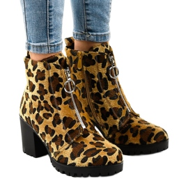 Cizme dama Leopard cu fermoar A273