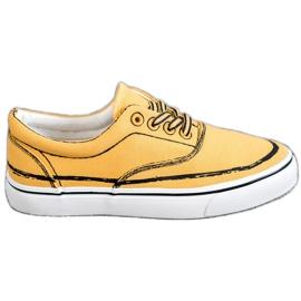 Bestelle galben Pantofi de modă