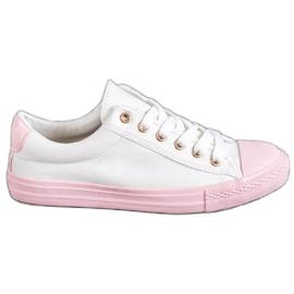 EXQUILY alb Adidași colorați