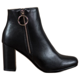 Filippo negru Casual Booties