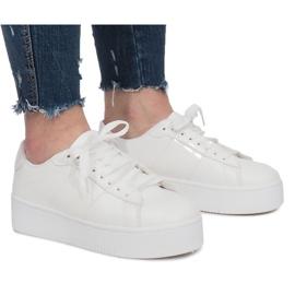 Adidași cu platformă albă Livet De Lux