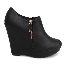 Cizme cu cizme Wedge B160 Negru