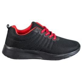 SHELOVET negru Black Sport Shoes