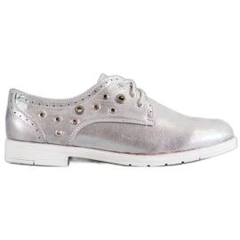 SHELOVET gri Pantofi legați cu piele ecologică