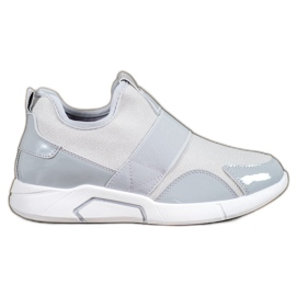 Ideal Shoes gri Adidași de moda pantofi
