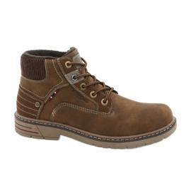 Pantofi de trekking din piele American Club CY37 maro