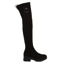 Cizme negre pentru femei cu coapse NC712 Negru