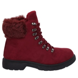 Roșu Încălțăminte pantofi pentru femei burgundy Y260-9 Red