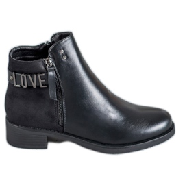 Ideal Shoes negru Cizme negre