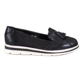 Bestelle negru Loafers cu platformă
