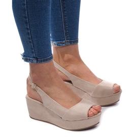 Maro Sandale cu fustă 3H096 Bej