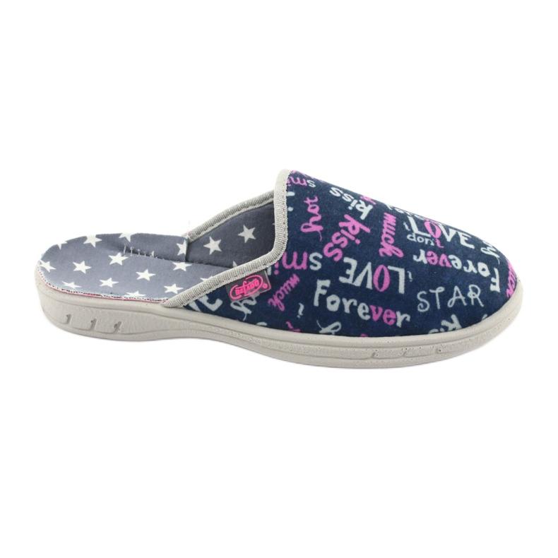 Pantofi pentru copii Befado colorate 707Y397 albastru marin roz gri