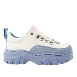 Pantofi sport pentru femei albi și albaștri PF5329