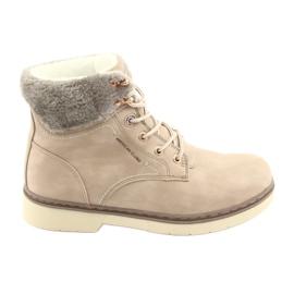 American Club Pantofi dantela RH47 bej maro