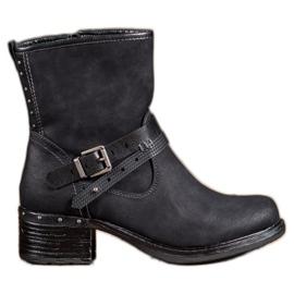 SHELOVET Cizme înalte cu catarama negru