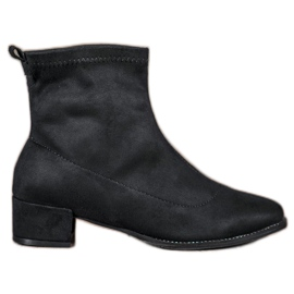 Small Swan Slip-on Boots Suede negru